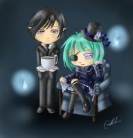 Ryn and Oki Cosplay - Ciel and Sebastian by SpectralPony