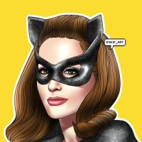 Julie Newmar version of Catwoman drawing by AkifArt