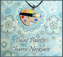 Paint Palette Charm Necklace by YellerCrakka