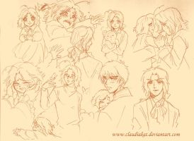 APH: Coeur Sketches by claudiakat