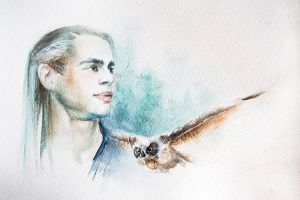 portrait with owl by lanavoro
