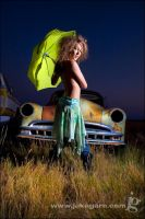 Umbrella and Car by jakegarn
