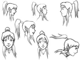 Korra Sketchdump by chrisdog203