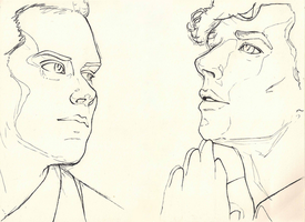 Moriarty vs Sherlock by CatsAndClouds