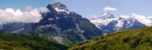 Jungfrau Range Panoramic by annamarcella24