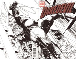 DD drawn on Daredevil #1 blank variant-SOLD by Dingodile24