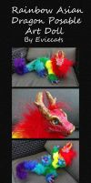 Rainbow Asian Dragon by Eviecats