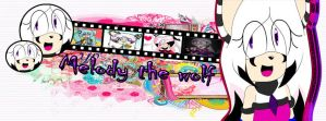 .::Melody the wolf Front::. by MultiDanita123