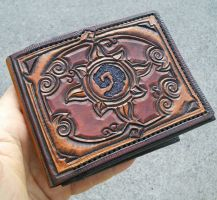 Hearthstone leather wallet by mooglestiltzkin