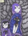 Raven and Chibi Raven by Camila-Andromeda