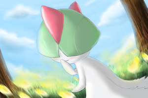 Ralts - Shining Forest art by nintendo-jr