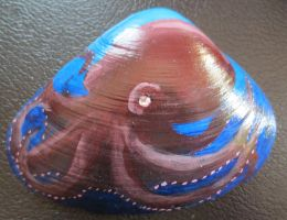 Octopus Painted Shell by SaintBree