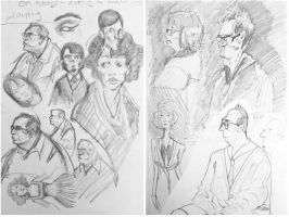 subway sketches august 1 by Ithilean