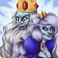 Ice King/Ice Queen by dynamite-factory