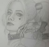 Harley Quinn rough portrait by MyPinkLifecOc