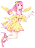 Just the Fluttershy by carcarchu