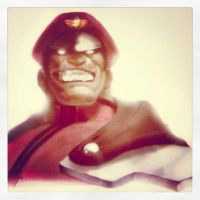 Mr M Bison looks pleased by joverine