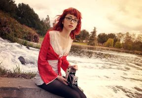 A red by the lake by msatisfaction