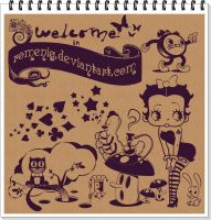 Betty Boop in Wonderland by Romenig
