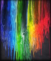 Melted Crayon Rainbow by aMazeANink