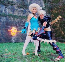 Haseo and Atoli [.HACK//GU] by JapoCW