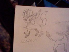 Leafeon Sketch by UltimaCreations