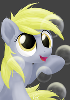 Bubbles with Derpy by SymbianL