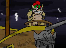 Bowser's Maiden Voyage by isaiahdjkim