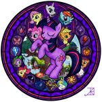Stained Glass: Friendship is Magic -better- by Akili-Amethyst