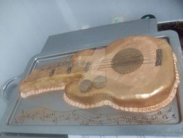 Guitar cake by Boltession