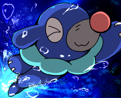Popplio by Mutuki