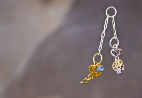 Small Key and Lock Charm by Vyntresser