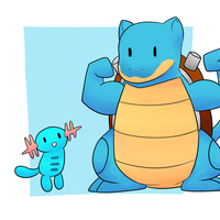 Blastoise and Wooper by Lexi247