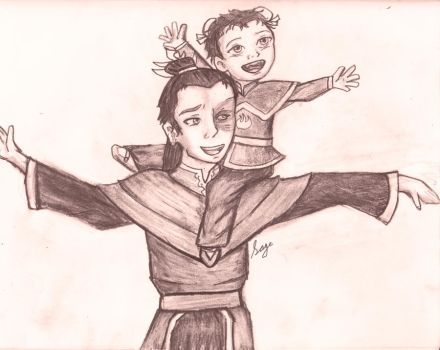 Zuko and his Daughter by Lyric90