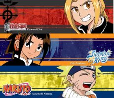 Shonen Kids Bookmark by laurbits