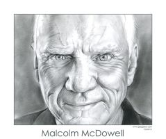 Malcolm McDowell by gregchapin