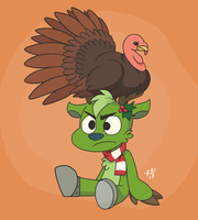 A Turkey and Some Mistletoe by Phoelion