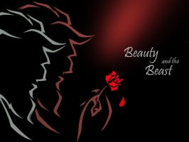 Beauty and the Beast Wallpaper by RedRosette
