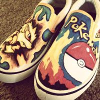 Arcanine Shoes by TheSunriseMassacre