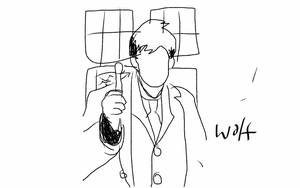 Tenth doctor silhouette by WolfMaster221