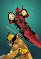 Wolverine and Deadpool Collab by Aspiring-Mangaka