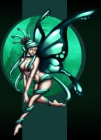 Absint,The Mint Faerie by venominon