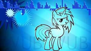 Vinyl Scratch Wallpaper by TellabArt