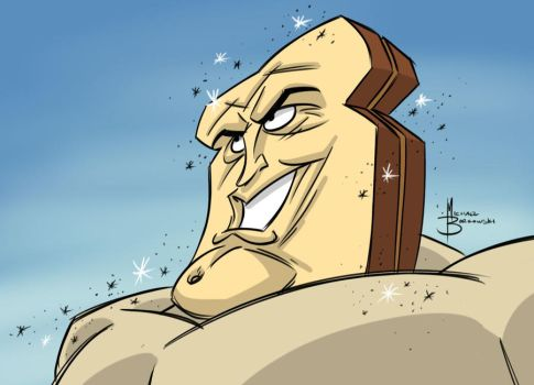 Powdered Toast Man by MBorkowski