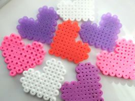 Heart Pins - Valentines Colors by AshersAbsolution