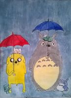 Totoro meets Adventure Time by LittleLadyMary