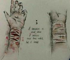 Selfharm by Laur by LauriennAmonteth