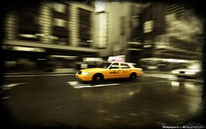 Time Square Taxi 1680x1050 by l8