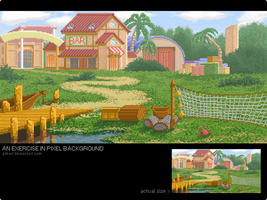 Pixel background exercise. by ashrel