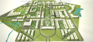 University Campus: Master Plan 2.4 RENDERING by RMoy-Art